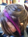 The green faded to blonde. Now, we are on to magenta!